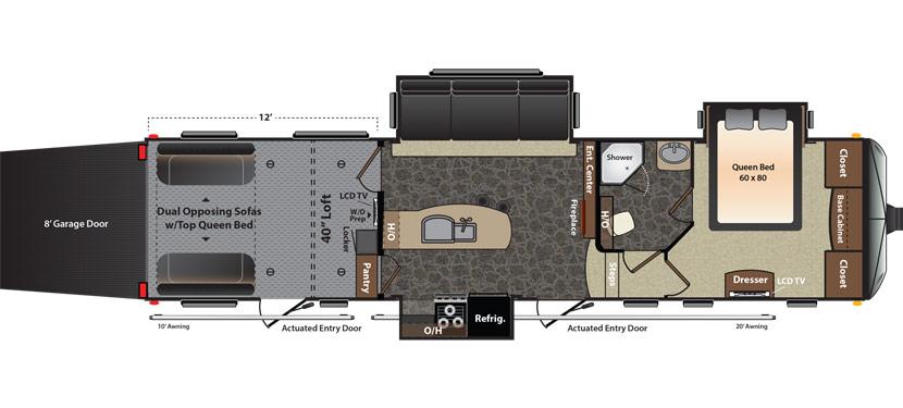 2015 Keystone Fuzion Toyhauler 342 Sturgis Rv Rentals